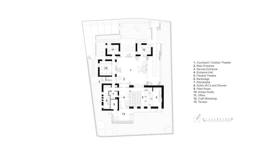 Ground Floor plan by Project V Architecture.