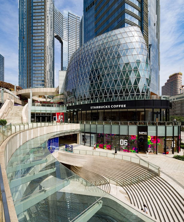 Evergrande Huazhi Plaza, Chengdu, China, by Aedas - Southern entrance to The ONE