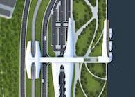 Transportation Hub - Train Terminal + Bus Terminal + Boat Terminal