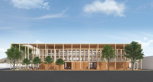 """Murphy Burnham and Buttirck Architects for the entry, """"Community Currents"""""""