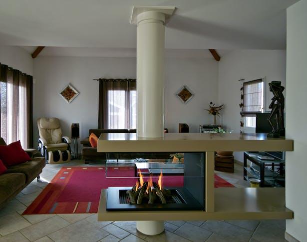 Bloch Design free standing fireplace 2