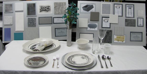 Restaurant Presentation Boards and Table Top Design