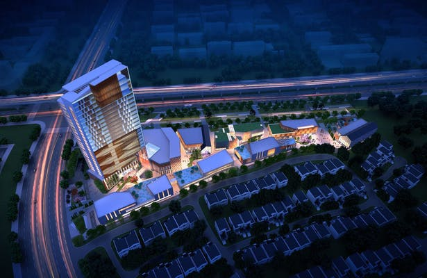 Wuxi, China Mixed-Use Hotel, Condominium and Retail Development, Cordogan Clark & Associates Architects