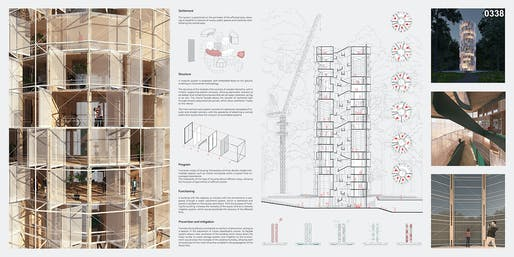 3RD PLACE: Waria Lemuy: Fire Prevention Skyscraper​ by Claudio C. Araya Arias | Chile​