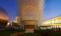 A peek into the UK's beehive-inspired pavilion for Milan Expo 2015
