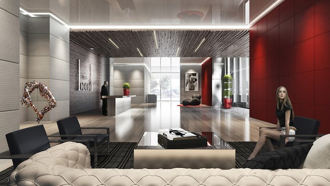 The Bond (interior design - under construction) by LOGUER Design. Rendering by ArX Solutions