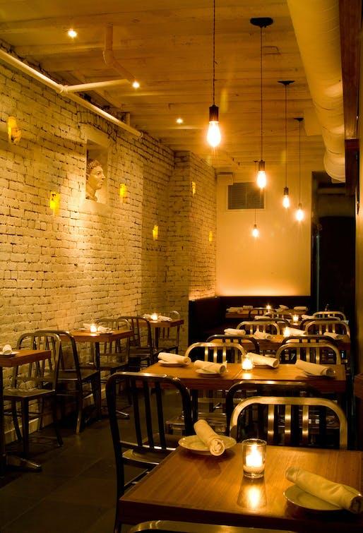 Tre restaurant by studioteka design located in manhattan image studioteka design