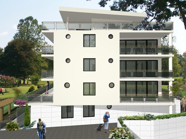 Conception for residential building in Switzerland - East elevation