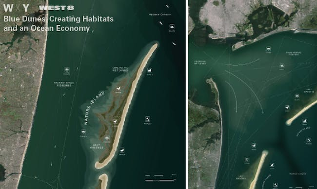 Blue Dunes – The Future of Coastal Protection by WXY/West 8. Photo via rebuildbydesign.org
