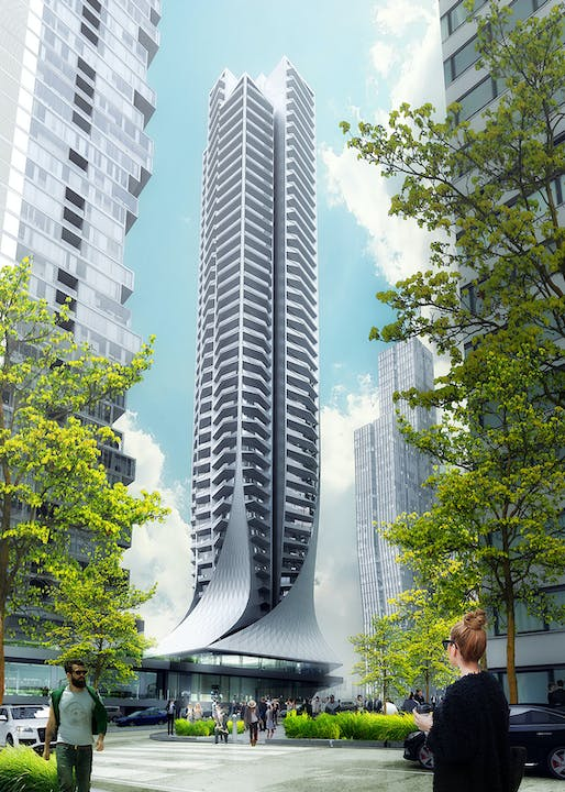 Bora Residential Tower in Mexico City by Zaha Hadid Architects. Rendering: LabTop.