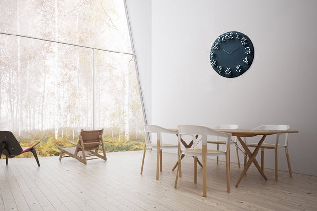 'MOCAP' bamboo wall clock by J.P.Meulendijks (is time an illusion?)