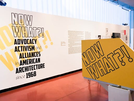 "ArchiteXX's ""Now What?! Advocacy, Activism, and Alliances in American Architecture since 1968"" exhibition at Pratt Institute. Photo © Sally Rafson."