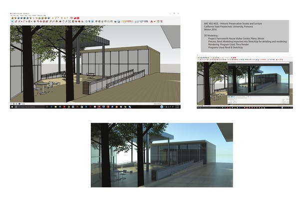 Sketchup Modeling to Render - Farnsworth Project