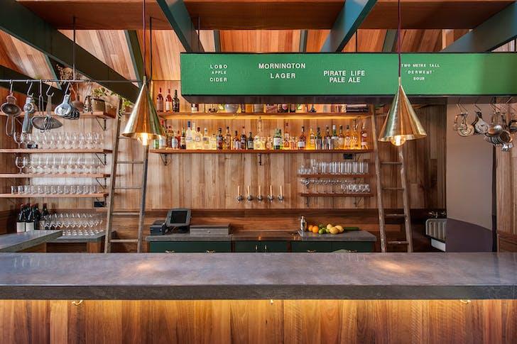 Spotted Gum, Ironbark and Tasmanian Oak make up the majority of the Saloon's interior.