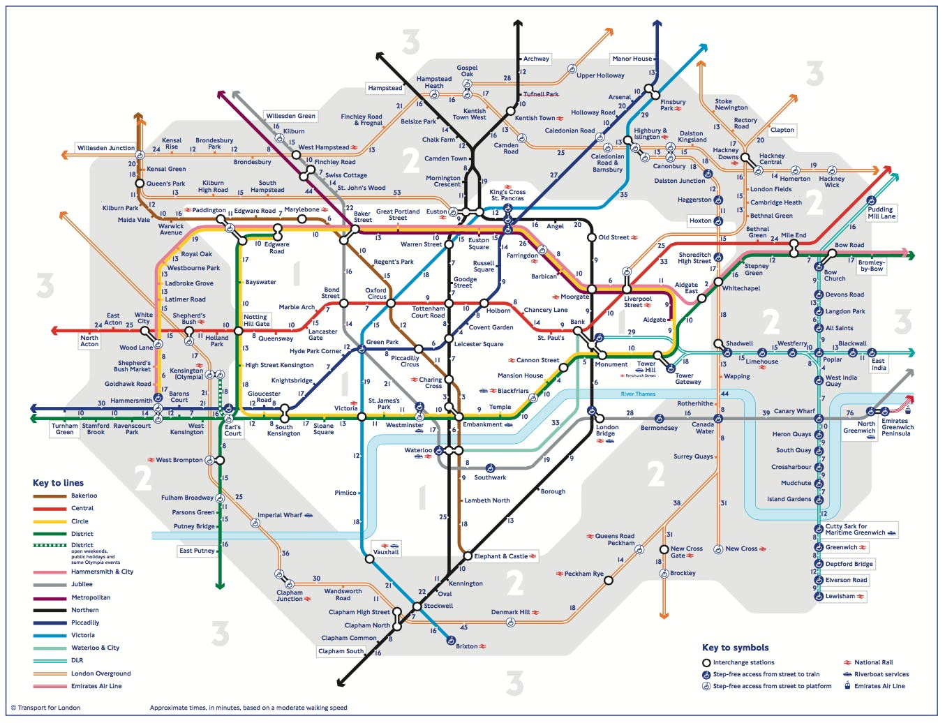 London Stations Map.A New London Tube Map Shows Walking Times Between Stations News