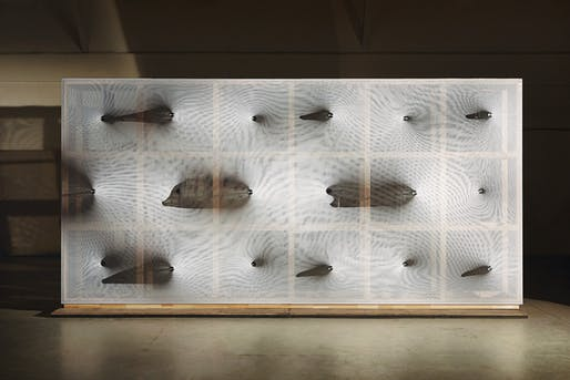 Frontview of 'Kinetic Wall' by Barkow Leibinger at the Venice Biennale 2014. Photo © Johannes Foerster