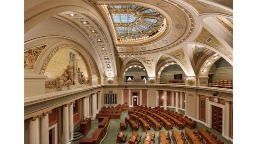 Minnesota State Capitol Restoration, St. Paul, Minnesota | HGA. Photo: Paul Crosby Architectural Photography (2017).