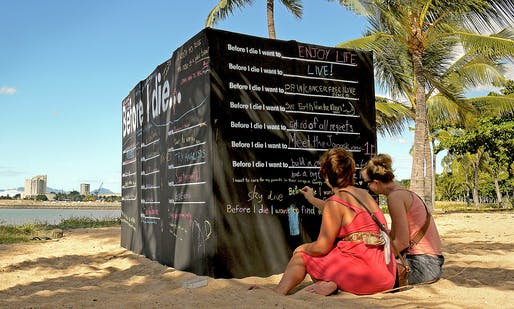 Candy Chang, Before I Die, Townsville, Australia. Photo by: Kim Kamo.