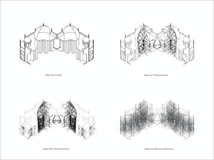 Taj Mahal Narrative: 'Taj Diagram Stages of Density' by Saba Salekfard.
