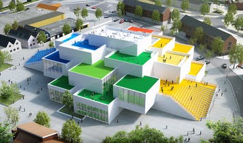 LEGO releases drone footage of Bjarke Ingels-designed LEGO House