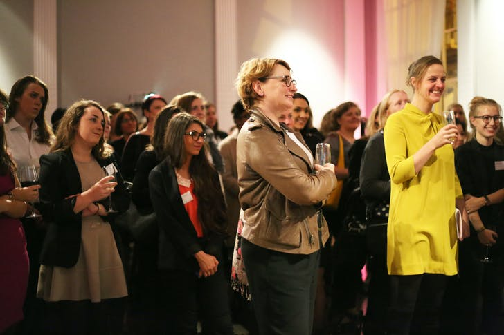 Delegates at Chicks with Bricks, The Institute of Contemporary Arts, October 2014.