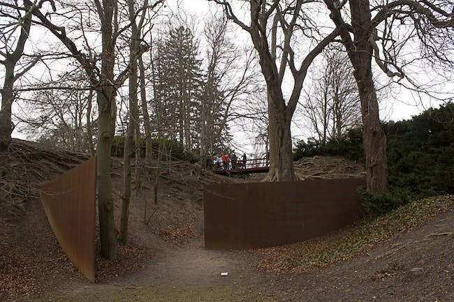 Richard Serra's 'Gates at the Gorge' at The Louisiana Museum