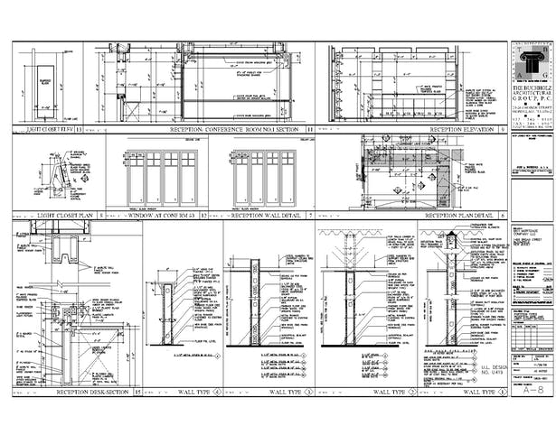 Reception desk details