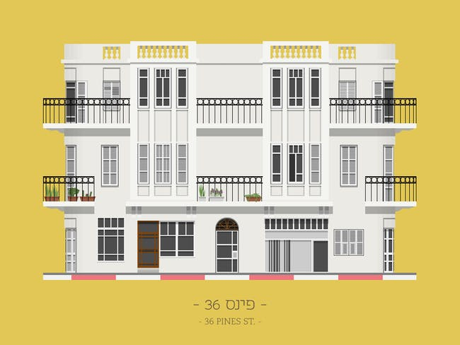 '36 Pines St.', image via TLV Buildings.