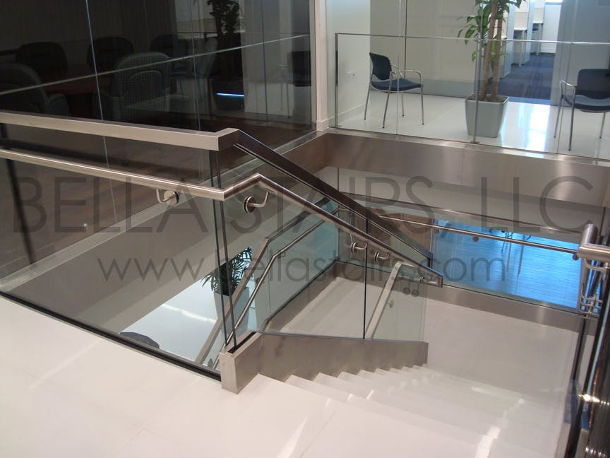 High end commercial staircases bella stairs llc archinect for Florida building code interior walls