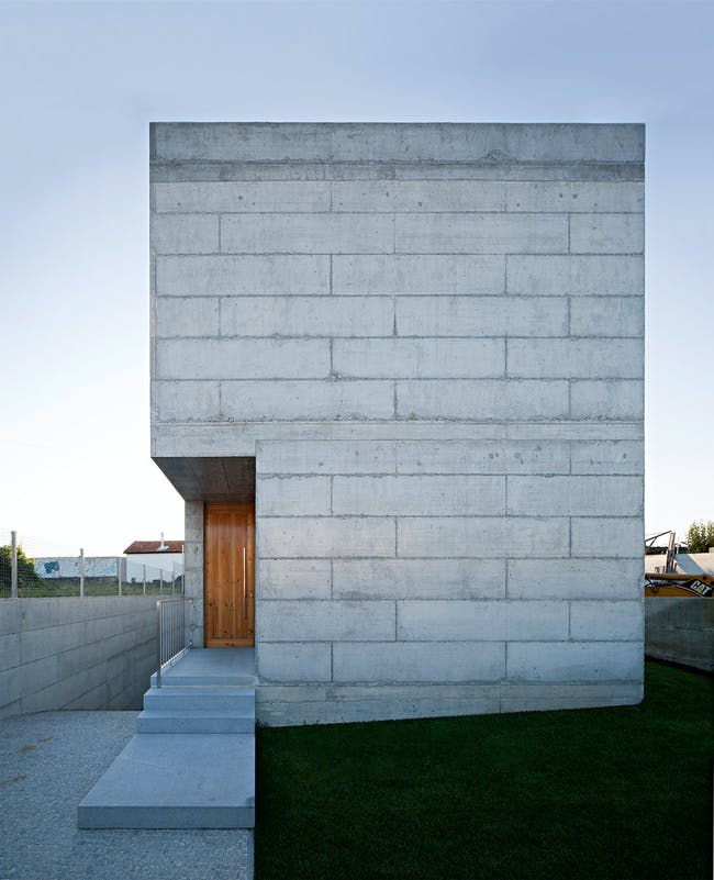 Exterior of the house in Moreira, Maia, Portugal (Photo- Javier Callejas)