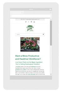 Developed responsive website for established plantscaping firm.