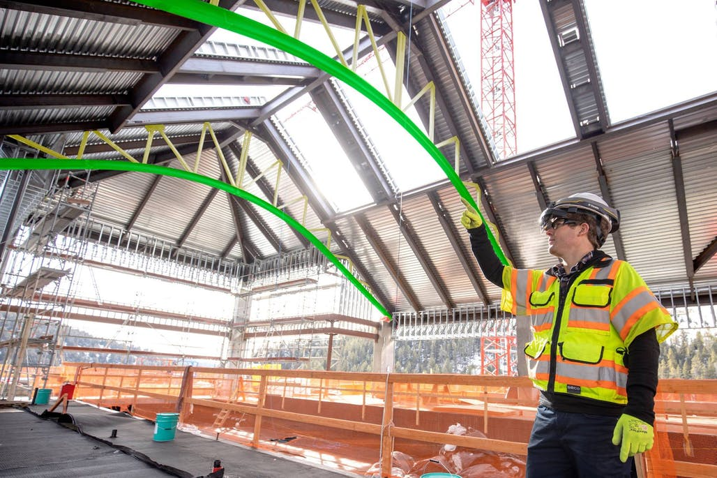 This mixed-reality hard hat connects with Microsoft's new
