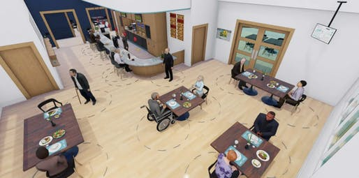 AIA has unveiled design recommendations for senior living facilities. Image courtesy of RLPS Architects.