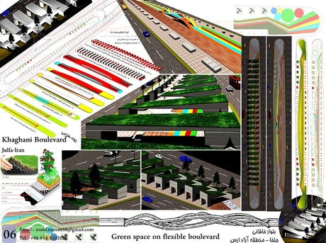 Green space on flexible boulevard