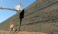 Long Beach officials top 600-foot-long 'Great Wall of Mulch'