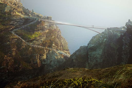 Ney & Partners + William Matthews Associates will redesign the 13th century Tintagel Bridge in Cornwall. Image © MRC/Ney & Partners/Emily Whitfield-Wicks.