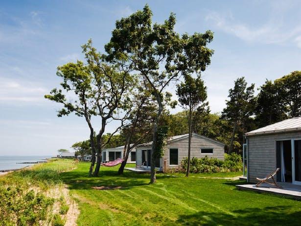 Rebuilt cottages photo H+J Architects