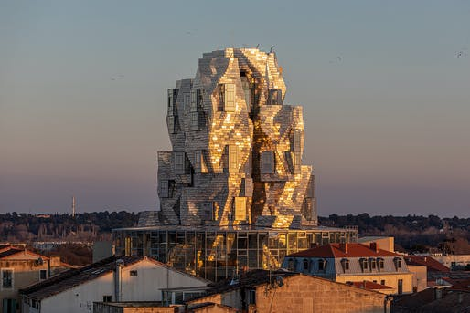The Frank Gehry-designed tower at LUMA Arles, Parc des Ateliers in January 2021. © Adrian Deweerdt