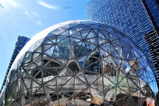 Amazon Spheres in the company's Seattle headquarters location. Image: Joe Wolf/Flickr.