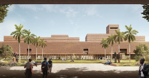 Rendering of the planned Edo Museum of West African Art. Image: Adjaye Associates.