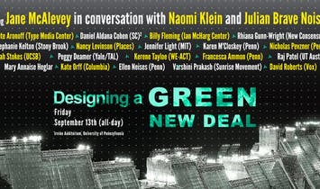 """UPenn and The Architecture Lobby to livestream """"Designing a Green New Deal"""" symposium"""