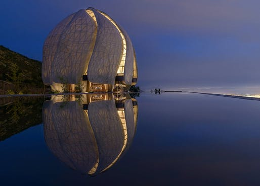 2018 Faith & Form Religious Art & Architecture Awards - New Facilities Honor: Bahá'í Temple of South America by Hariri Pontarini Architects. Photo: Sebastian Wilson Leon.