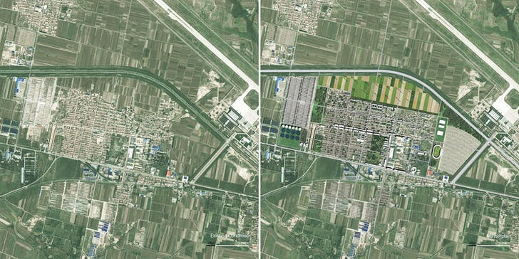 Before-and-after master plan. Image credit and courtesy of Dingliang Yang.