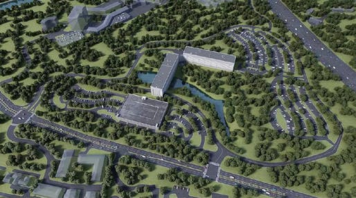 A rendering of the new North Atlanta High School. (Courtesy of North Atlanta High School via marketplace.org)
