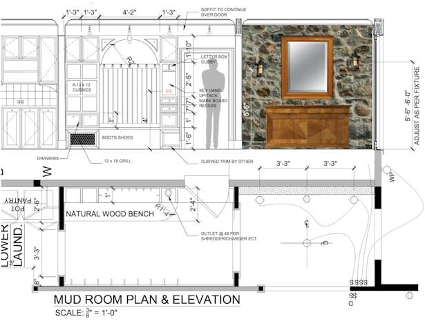 MUDROOM PLAN & ELEVATION