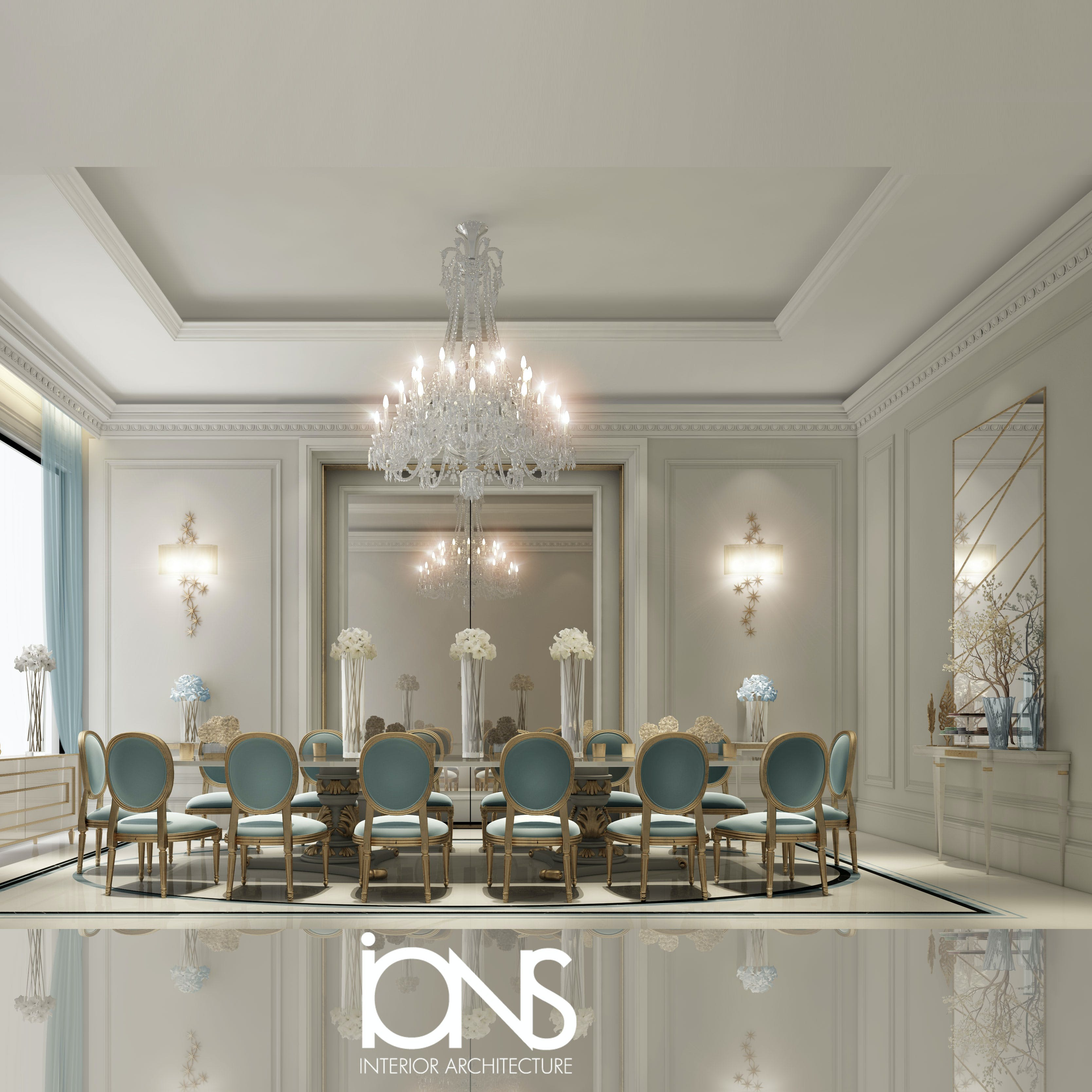 Ions Interior Design Dubai dining room design in classic french style interiors | ions