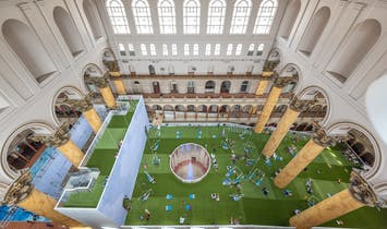 View construction time-lapse of the National Building Museum's new summer installation