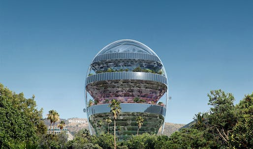 MAD Architects proposes a tree-filled 'office of the future' in the heart of Hollywood