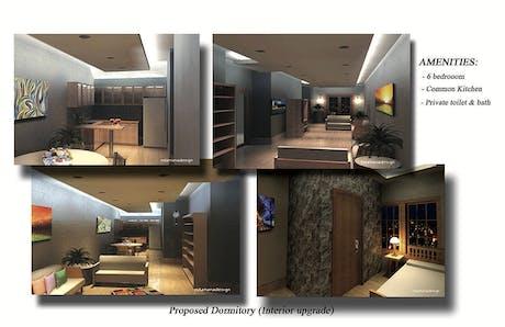 Proposed 6 bedroom Dormitory (interior upgrade)