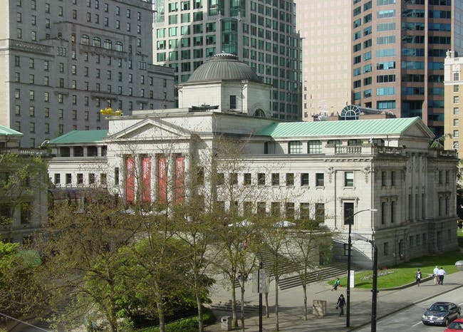 The current Vancouver Art Gallery, designed by Francis Rattenbury. Image via wikipedia.org.